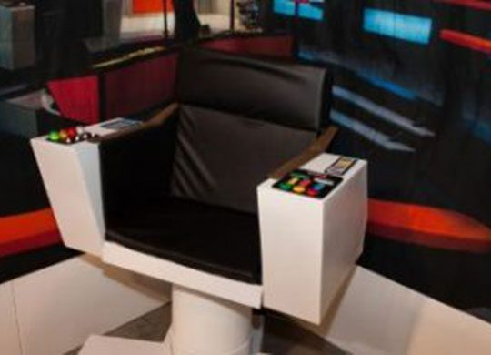 Photo of Dr. McCoy's chair on the Starfleet