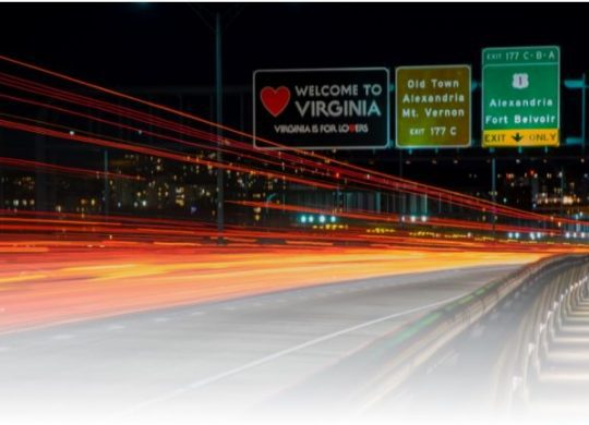 Photo of Virginia state highway signs