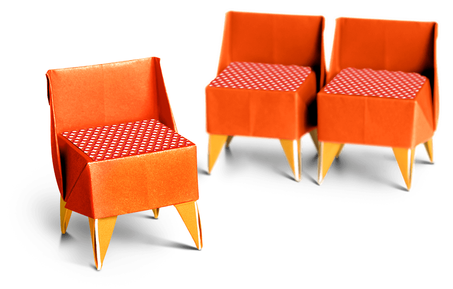photo of origami chairs