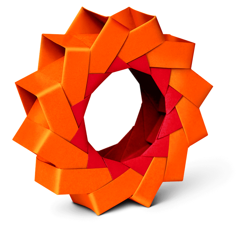 photo of paper origami cog